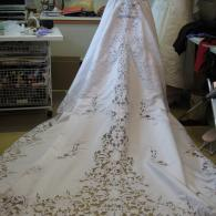 Elegant Open Lace Train
